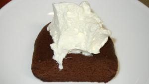 ベルギーチョコ蒸しケーキ温め